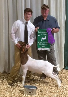 Meat Goat Champion at the County Fair