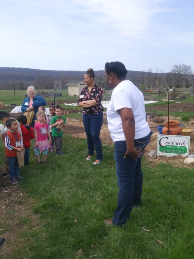 Learning about our many gardens including our Bay-Wise garden.